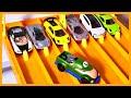 Luigi the Champ vs 6 Hyper Car Exotics - Hot Wheels