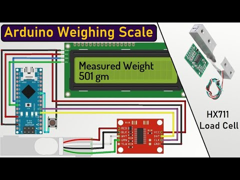 Arduino & HX711 Load Cell Based Weighing Machine - 100% Calibration