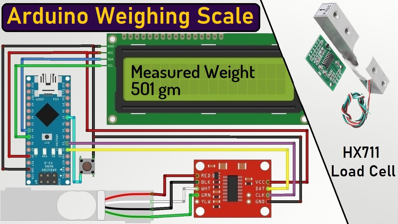 interface load cell wiring diagram arduino   hx711 load cell based weighing machine 100  hx711 load cell based weighing machine