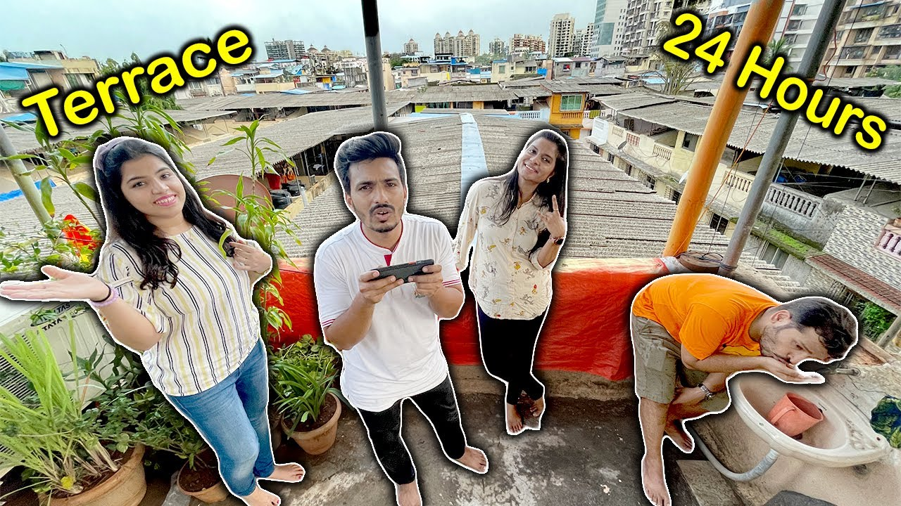 Living On Terrace For 24 Hours Challenge   Hungry Birds
