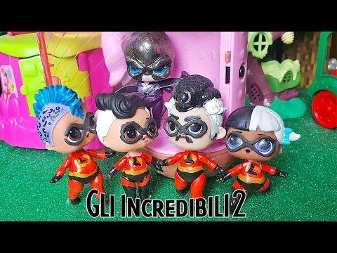 """Gli INCREDIBILI - Una """"normale"""" famiglia di Super LOL Surprise 💥 [Film Lollizzati - Ep. 7]"""