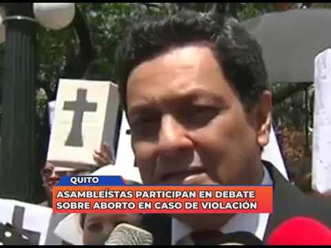 Asambleístas participan en el debate sobre el aborto en caso de violación