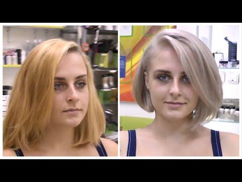 Короткая женская стрижка боб каре с удлинением // Perfect Bob Haircut