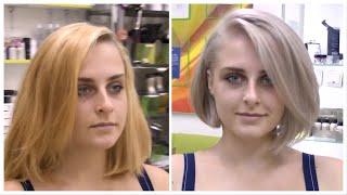 Короткая женская стрижка боб каре с удлинением Perfect bob haircut