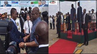 Arrivée du Président Félix TSHISEKEDI en ZAMBIE pour un Séjour de Travail de 48H