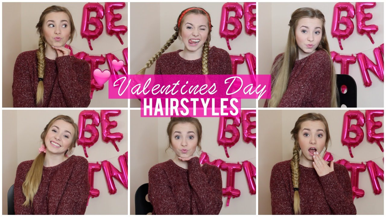 Valentines Hairstyles: 5 Quick & Easy Valentines Day Hairstyles!