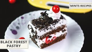 Eggless Black Forest Pastry Without Oven | सिर्फ 3 Ingredients से सॉस पैन में बनाइये