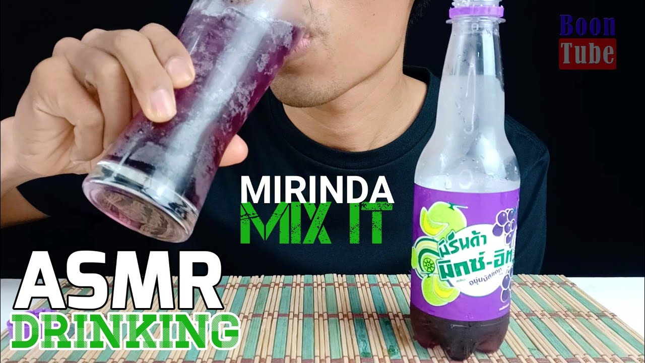 ASMR Drinking ~Mirinda Mix it  ~ Muscat Grape and Japanese melon flavor | EP.93 I BoonTube