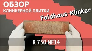 Обзор клинкерной плитки Feldhaus Klinker, Vascu, R750NF14, Wasserstrich, ardor rotado
