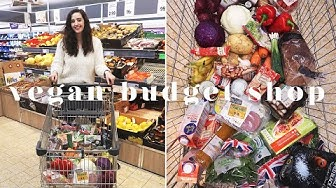 £14 VEGAN WEEKLY BUDGET GROCERY SHOP AT LIDL 💰