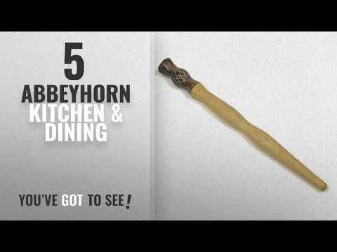 Abbeyhorn Top 10 Kitchen & Dining [2018]: Scottish Wood & Horn Thistle Traditional Oatmeal Porridge