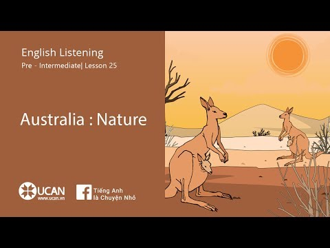 Learn English Listening | Pre Intermediate - Lesson 25. Australia : Nature