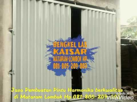 Jasa Pembuatan Pintu Harmonika di Mataram Lombok. Bengkel Las daerah Mataram, Bengkel Las Kaisar