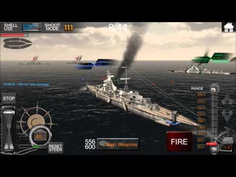 Naval Frontline: Bismark Double Kill - YouTube