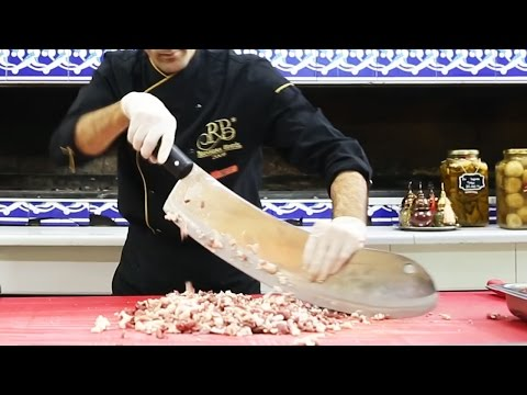 istanbul street food | ground beef with cleaver recipe | turkey street food