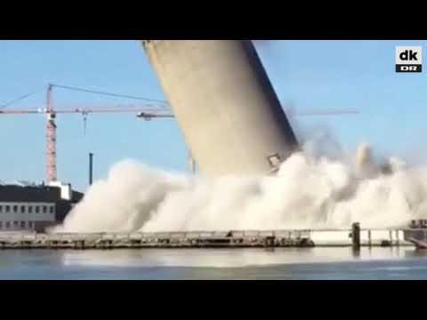 Silo Demolition Gone Wrong, Denmark