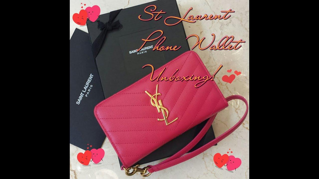 yves bags - St Laurent (YSL) Monogram Phone Wallet Unboxing ! - YouTube