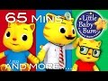 Five Little Kittens Jumping On The Bed | Plus More Nursery Rhymes | 65 Minutes By Littlebabybum! video