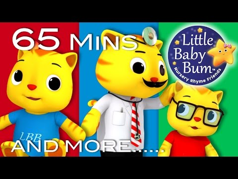 Five Little Kittens Jumping On The Bed | Plus More Nursery Rhymes | 65 Minutes by LittleBabyBum!