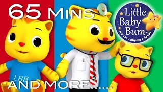 Little Baby Bum | Five Kittens Jumping on The Bed | Nursery Rhymes for Babies | Songs for Kids