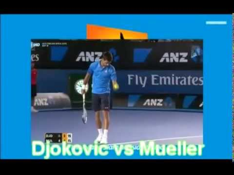 Novak Djokovic vs Mueller Highlights Australian Open 2015 Round 4