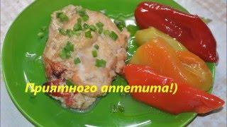Ну,Очень вкусная Куриная грудка с болгарским перцем и сыром