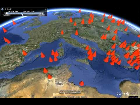 Data Appeal demo of worldwide earthquake activity in Google Earth
