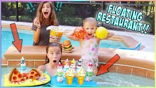 WE PUT A FLoATING RESTAURANT IN OUR NEW POOL!! IT WORKED!