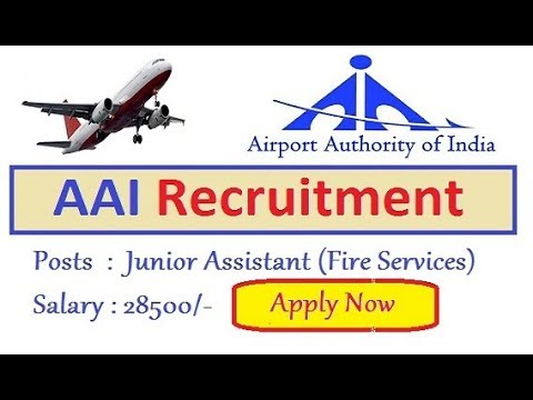 AAI Recruitment Notification    AIRPORTS AUTHORITY OF INDIA VACANCY    Apply Online