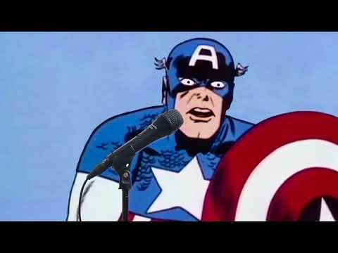 Comic Book Karaoke Lounge 05 - Captain America Sings[?] Dancing in the Moonlight