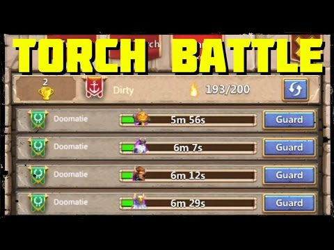 Castle Clash: Torch Battle - Guild Wars Part 1 Of 3
