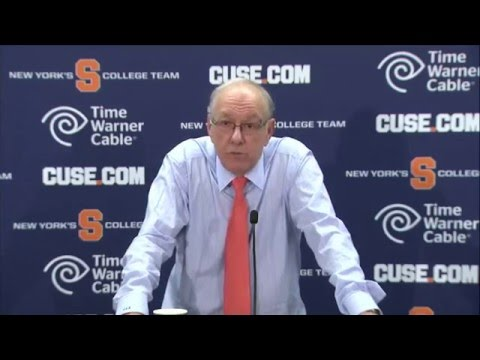Jim Boeheim vs. North Carolina Postgame Press Conference