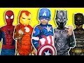 Captain America Civil War vs Justice League vs Black Panther ZZ Kids TV