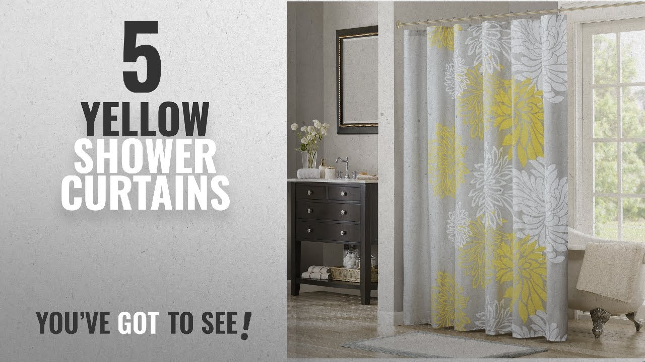 Top 10 Yellow Shower Curtains [2018]: Comfort Spaces