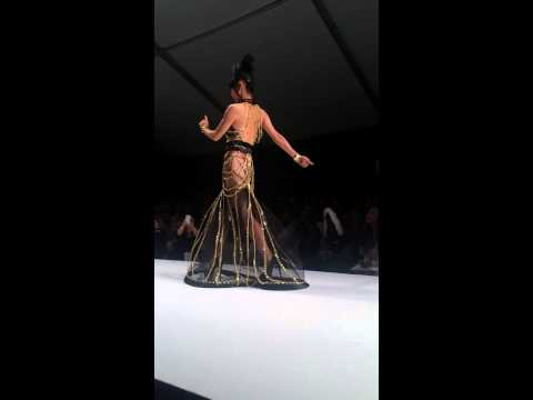 Bai Ling dances on the runway for Andre Soriano at StyleFashionWeek