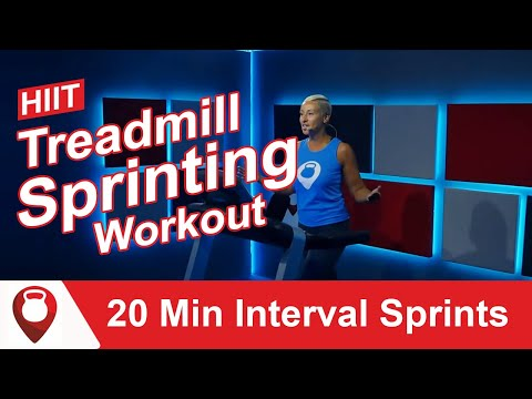 HIIT Treadmill Workout: Interval Training Running: 20 Min Interval Sprints