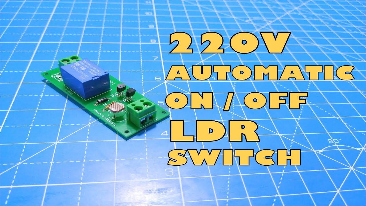 How To Make 220v Automatic On Off Light Circuit Ldr Switch Diagram 230v