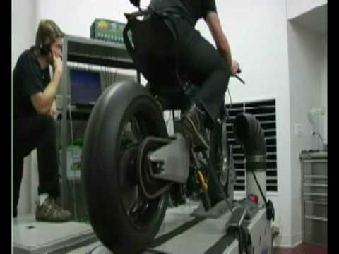 Motoczysz TTXGP racer on the dyno