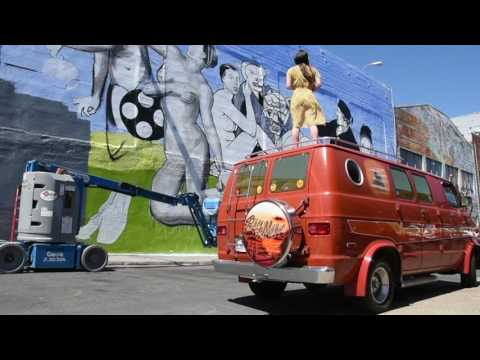 Ozmo's mural Mitchell Brothers O'Farrell Theatre SAN FRANCISCO 2016  SHORT VERSION