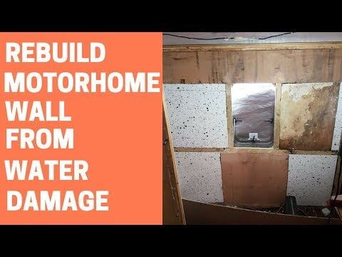 How to REPAIR MAJOR motorhome WATER DAMAGE | STAGE 2 WALL BUILD