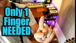 10 Classic Riffs! Only One Finger Needed! Beatles, Metallica, Blink 182, Green Day, James Bay,
