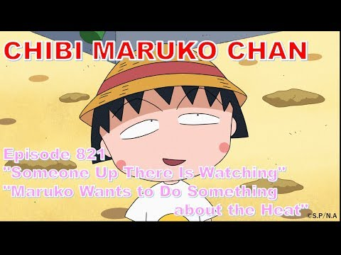 """Chibi Maruko Chan Eng Dub #821 """"Someone Up There Is Watching"""" And The Other"""