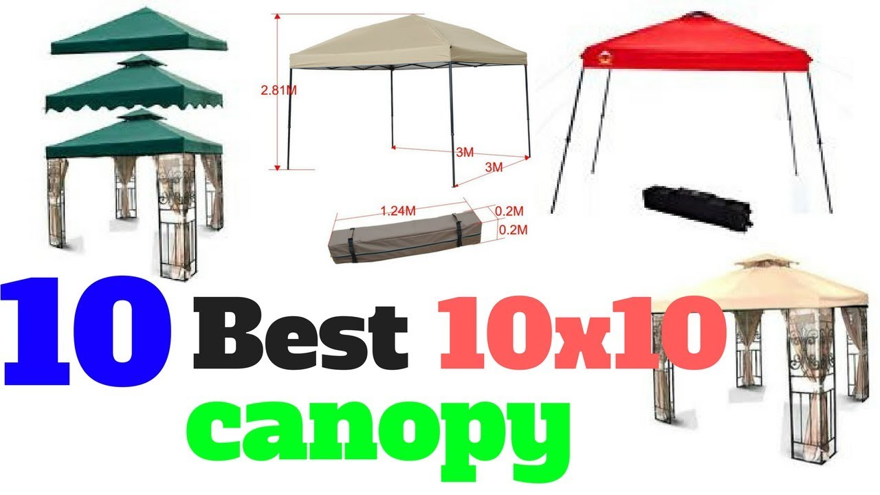 Top 10 Best 10x10 canopy  sc 1 st  YouTube & Top 10 Best 10x10 canopy - YouTube