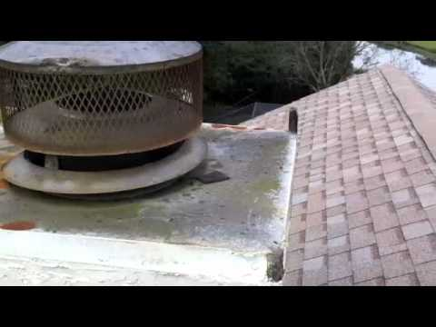 Tampa Chase Cover Cap Before And After Fireplace Chimney