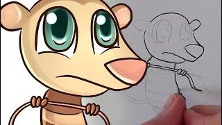 Cómo dibujar a Eddie Chibi (La Era de Hielo)