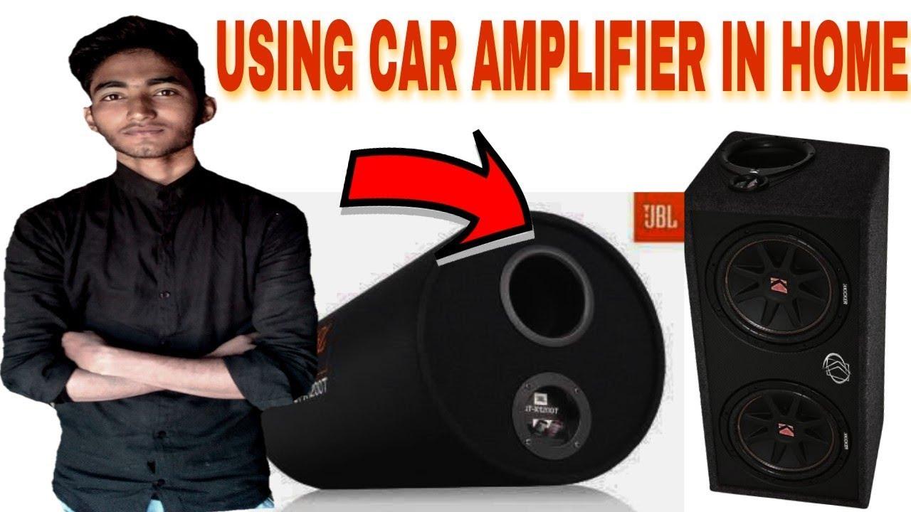 hook up car amp indoors