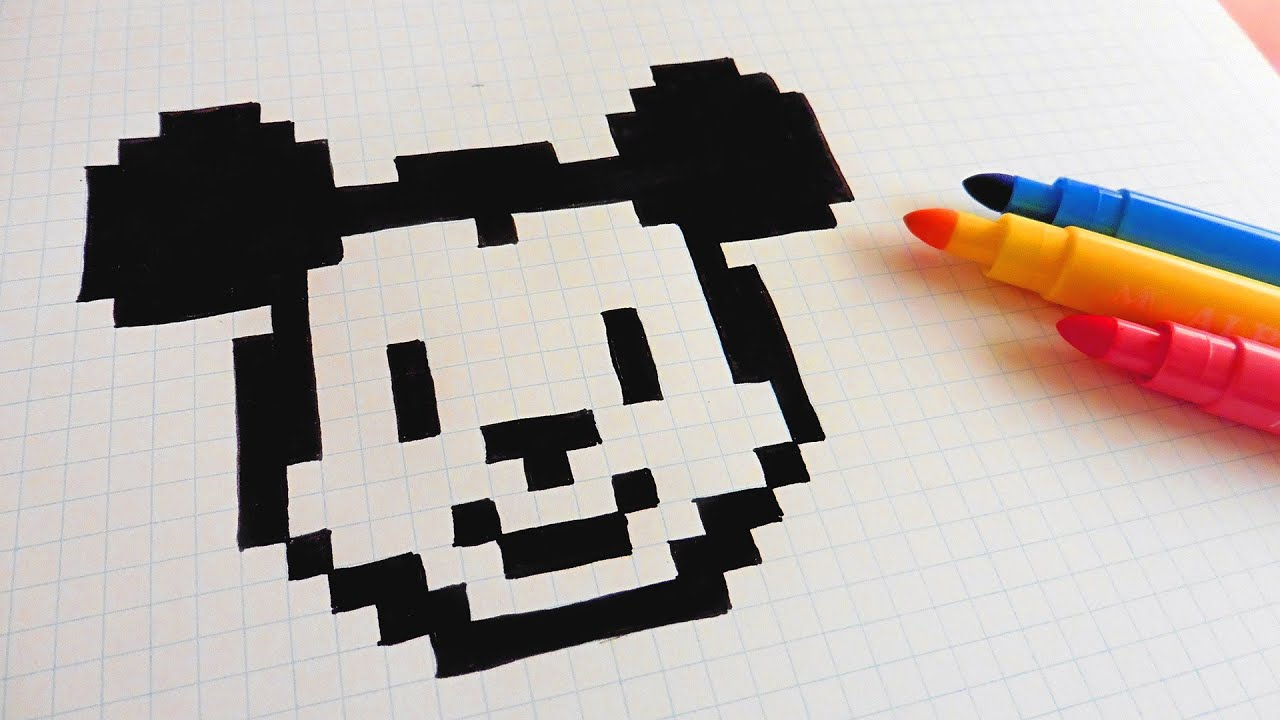 Mickey Mouse Pixel Art handmade pixel art - how to draw mickey mouse #pixelart