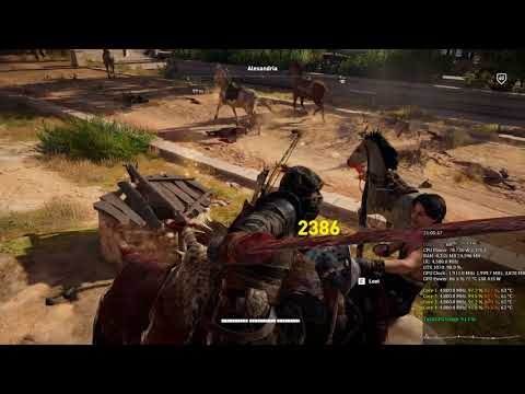 Assassin's Creed Origins Fighting in Alexandria 1080p i7 7700K 4.8 Ghz GTX 1070