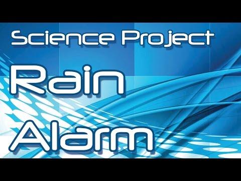Make an Electronic Rain Alarm Yourself - Science Project ( Hindi / Urdu )