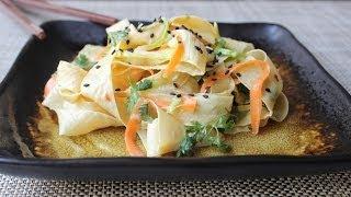 Yuba Noodle Salad - Spicy Asian Tofu Noodle Salad Recipe